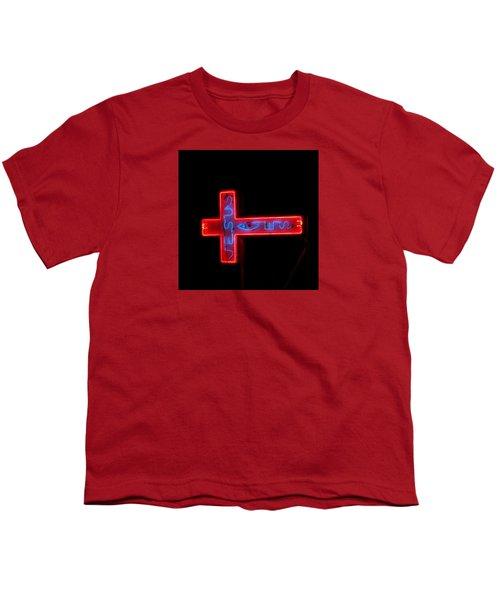 Jesus Saves At Night Youth T-Shirt