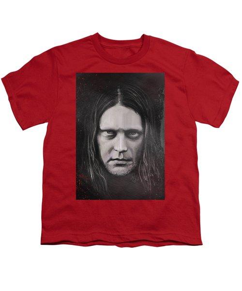 Youth T-Shirt featuring the drawing Jonas P Renkse Musician From Katatonia Band By Julia Art by Julia Art