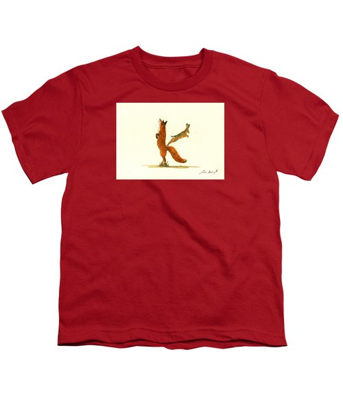 K Letter Woodland Alphabet Youth T-Shirt by Juan  Bosco