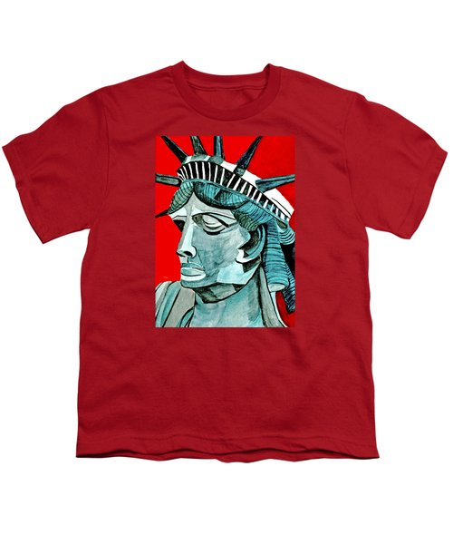 Lady Liberty Youth T-Shirt by Anna Porter