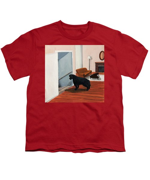 Lady Stares Down The Big Stairs Youth T-Shirt