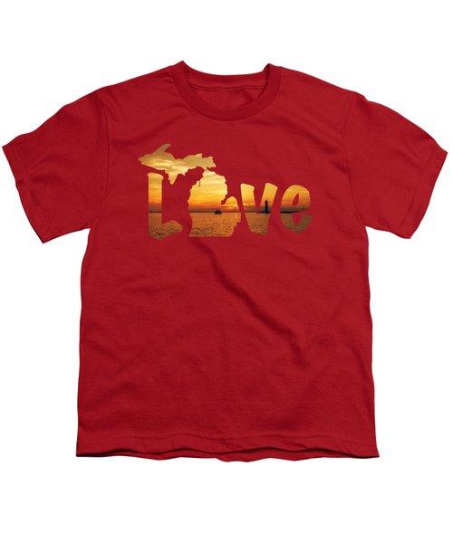 Love Lake Michigan Youth T-Shirt