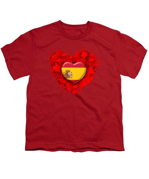 Love Spain Youth T-Shirt by Alberto RuiZ