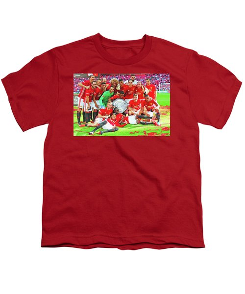 Manchester United Celebrates Youth T-Shirt by Don Kuing