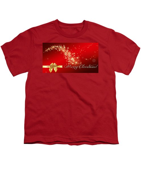 Merry Christmas Christmas Card Youth T-Shirt by Bellesouth Studio