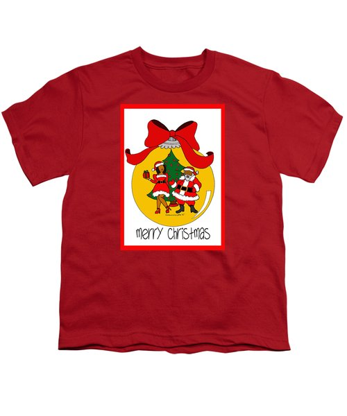 Merry Christmas Youth T-Shirt by Diamin Nicole