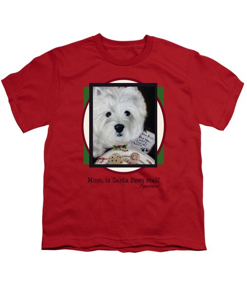 Mom Is Santa Paws Real Youth T-Shirt