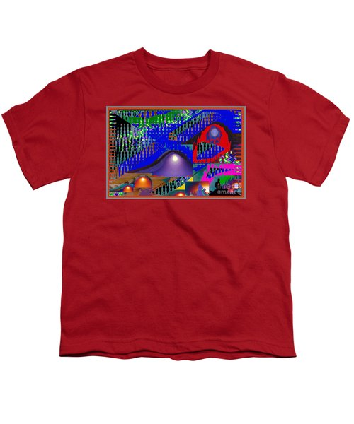 Moon Reflections On Mountains Abstract Graphic Paint Download For Personal N Commercial Projects Fun Youth T-Shirt by Navin Joshi