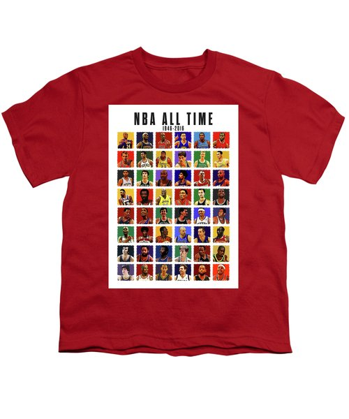 Nba All Times Youth T-Shirt by Semih Yurdabak