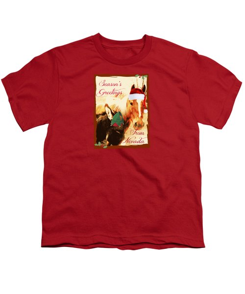 Nevada Greetings Youth T-Shirt by Bobbee Rickard
