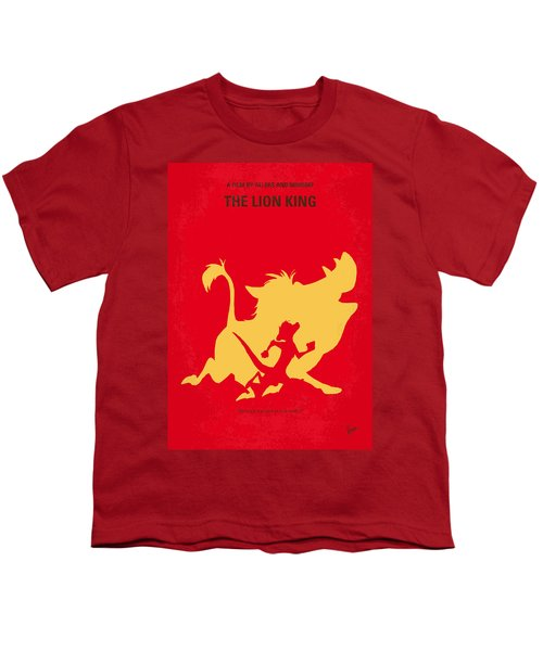 No512 My The Lion King Minimal Movie Poster Youth T-Shirt by Chungkong Art