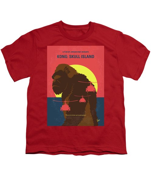 No799 My Skull Island Minimal Movie Poster Youth T-Shirt