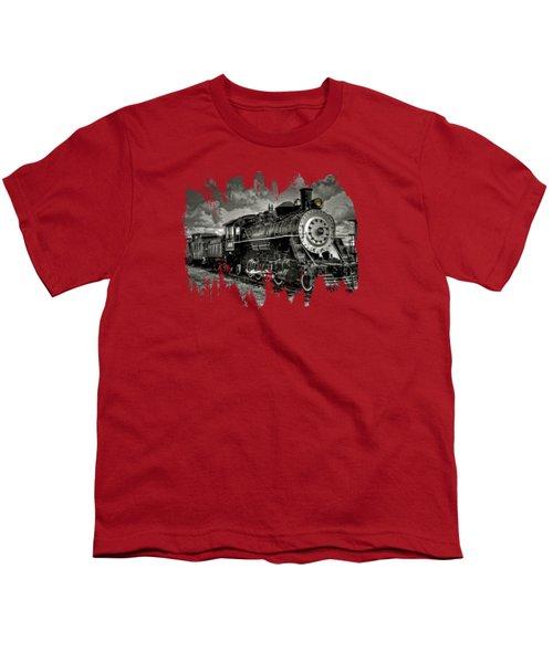 Old 104 Steam Engine Locomotive Youth T-Shirt by Thom Zehrfeld