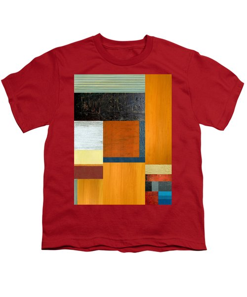 Youth T-Shirt featuring the painting Orange Study With Compliments 2.0 by Michelle Calkins