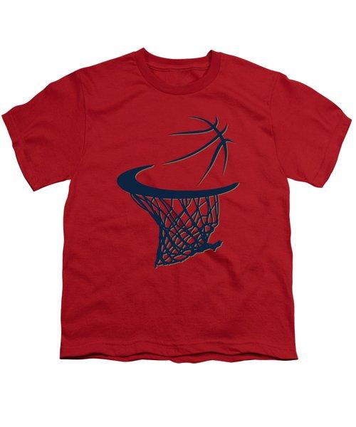 Pelicans Basketball Hoop Youth T-Shirt