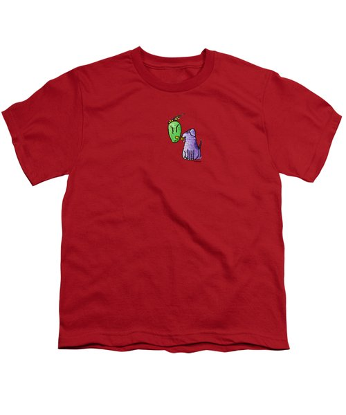 Play Ball Youth T-Shirt by LimbBirds Whimsical Birds