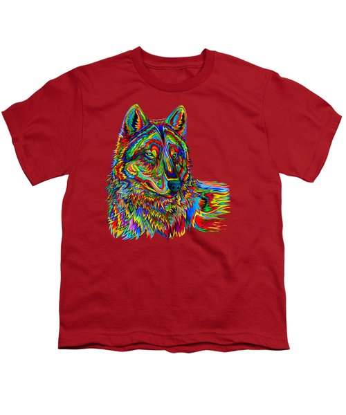 Psychedelic Wolf Youth T-Shirt