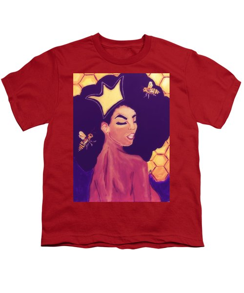 Queen Bee  Youth T-Shirt by Miriam Moran