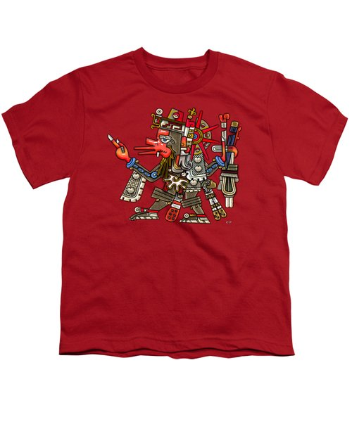 Quetzalcoatl In Human Warrior Form - Codex Borgia Youth T-Shirt