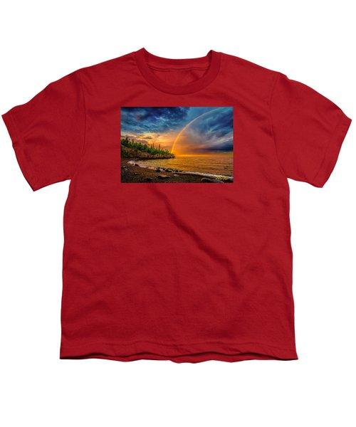 Rainbow Point Youth T-Shirt by Rikk Flohr