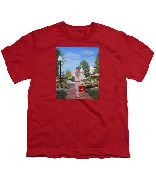 Razorback Swagger At Bentonville Square Youth T-Shirt by Belinda Nagy