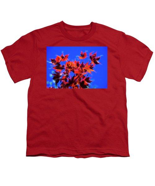 Red Maple Leaves Youth T-Shirt by Yulia Kazansky