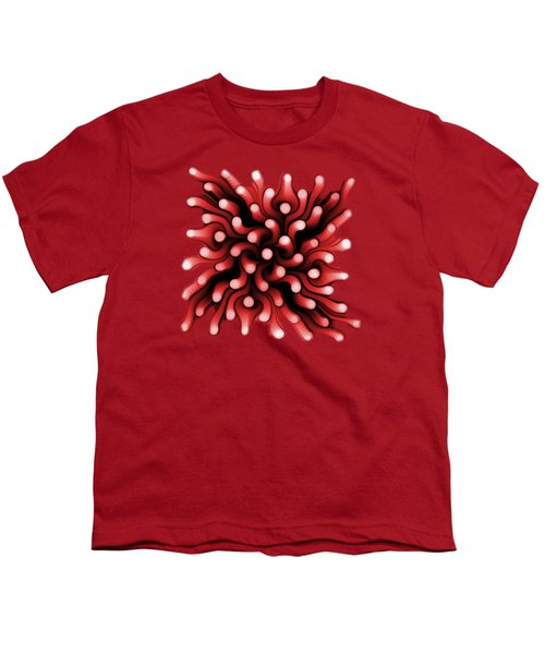 Red Sea Anemone Youth T-Shirt by Anastasiya Malakhova