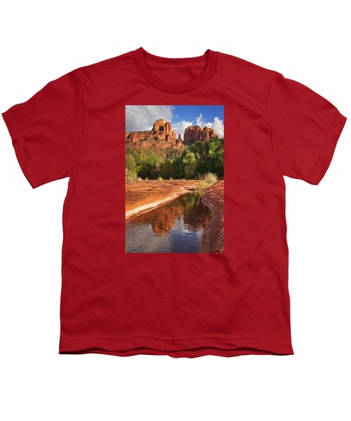 Reflections Of Cathedral Rock Youth T-Shirt