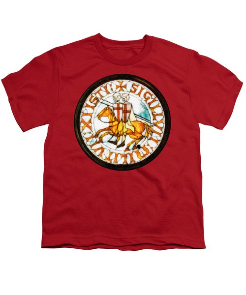 Seal Of The Knights Templar Youth T-Shirt