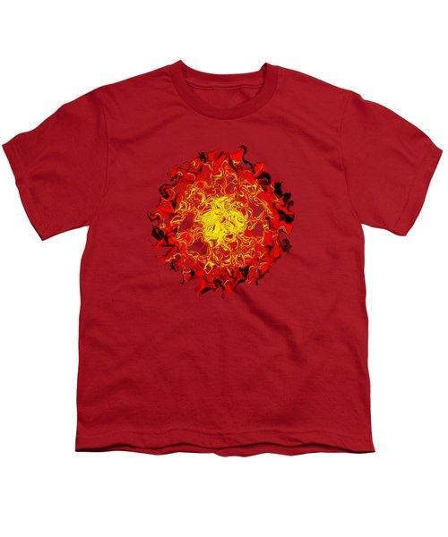 Sun Abstract Art By Kaye Menner Youth T-Shirt by Kaye Menner