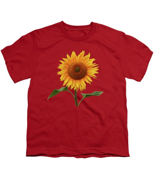 Sunflower And Red Sunset Youth T-Shirt