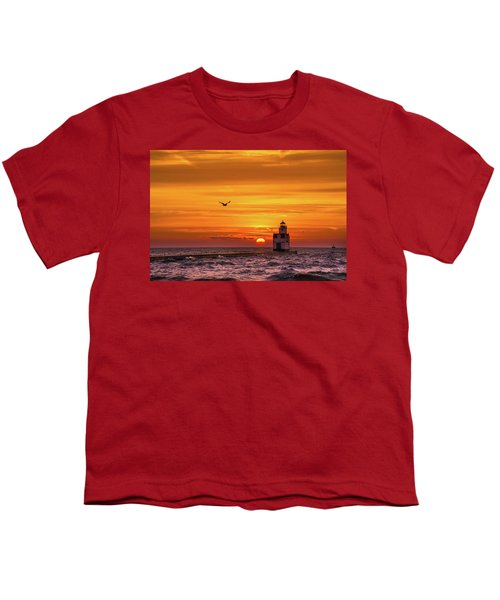 Youth T-Shirt featuring the photograph Sunrise Solo by Bill Pevlor