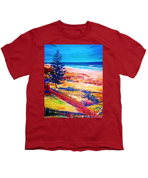 Youth T-Shirt featuring the painting The Winter Dunes by Winsome Gunning
