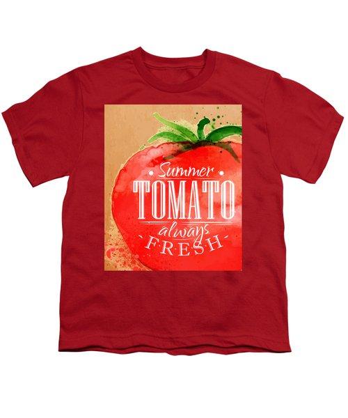 Tomato Youth T-Shirt by Aloke Creative Store