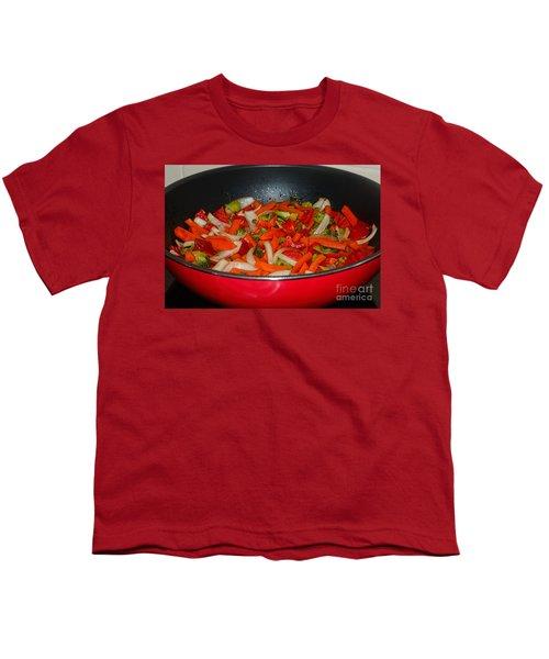 Vegetable Stir Fry By Kaye Menner Youth T-Shirt by Kaye Menner