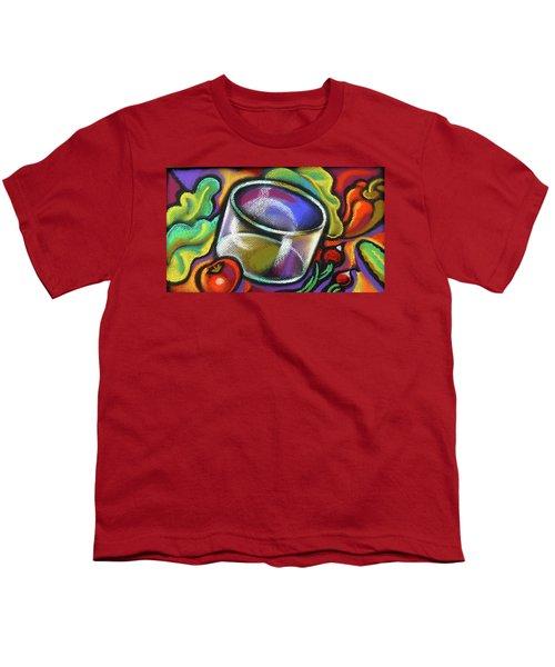 Vegetarian Food Youth T-Shirt by Leon Zernitsky