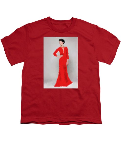 Youth T-Shirt featuring the digital art Vivienne by Nancy Levan