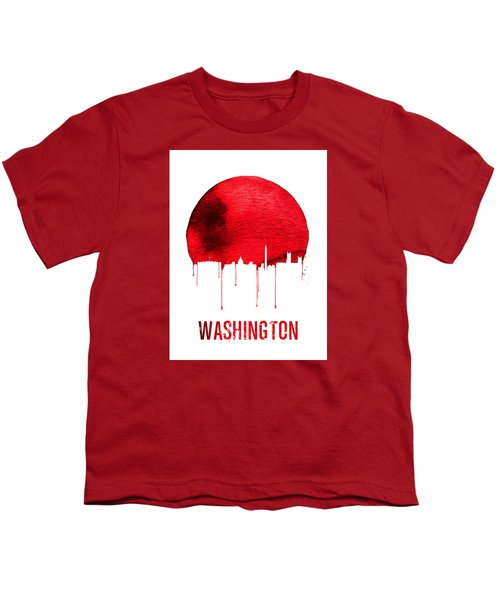 Washington Skyline Red Youth T-Shirt