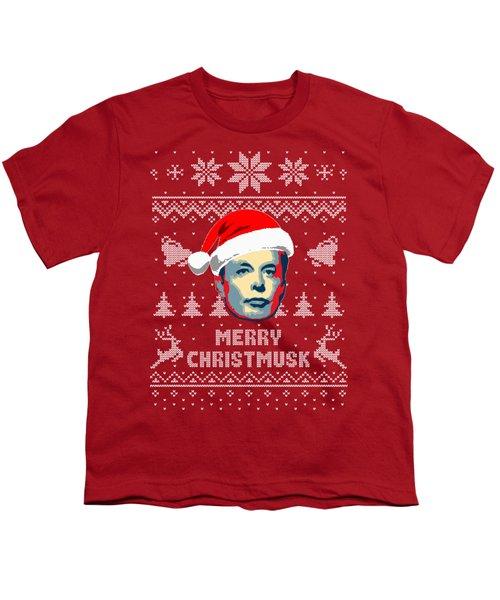 Elon Musk Merry Christmusk Youth T-Shirt