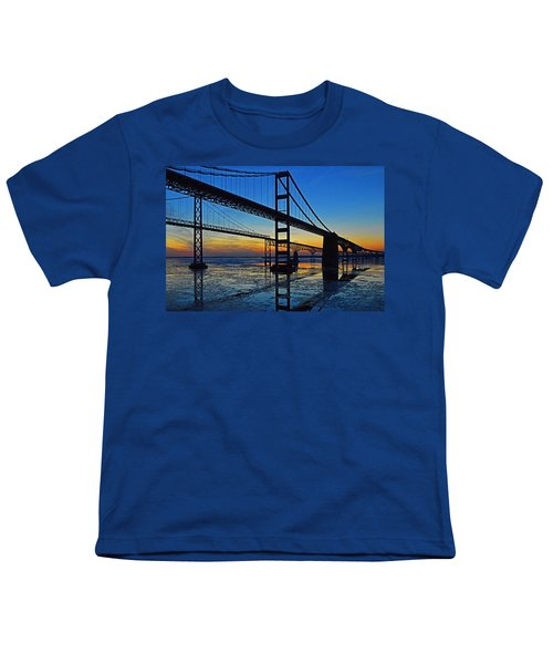 Chesapeake Bay Bridge Reflections Youth T-Shirt