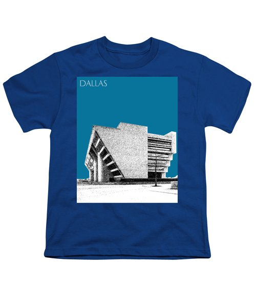 Dallas Skyline City Hall - Steel Youth T-Shirt
