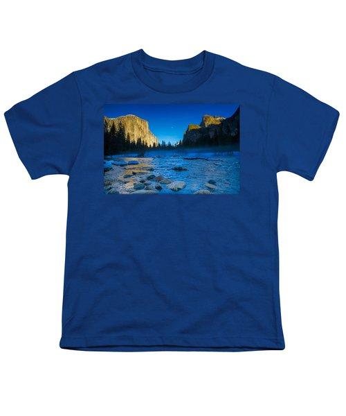 El Capitan And Half Dome Youth T-Shirt