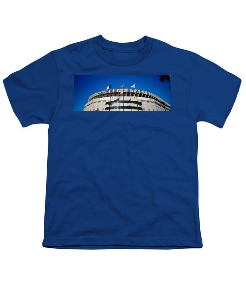 Flags In Front Of A Stadium, Yankee Youth T-Shirt