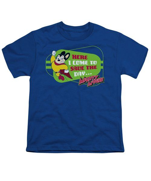 Mighty Mouse - Here I Come Youth T-Shirt by Brand A