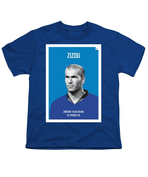 My Zidane Soccer Legend Poster Youth T-Shirt