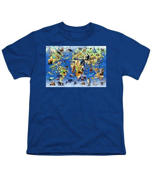 One Hundred Endangered Species Youth T-Shirt