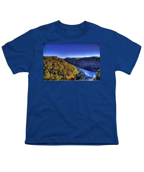 Youth T-Shirt featuring the photograph Sun Setting On Fall Hills by Jonny D