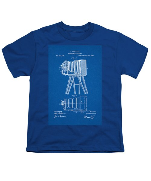 1885 Camera Us Patent Invention Drawing - Blueprint Youth T-Shirt