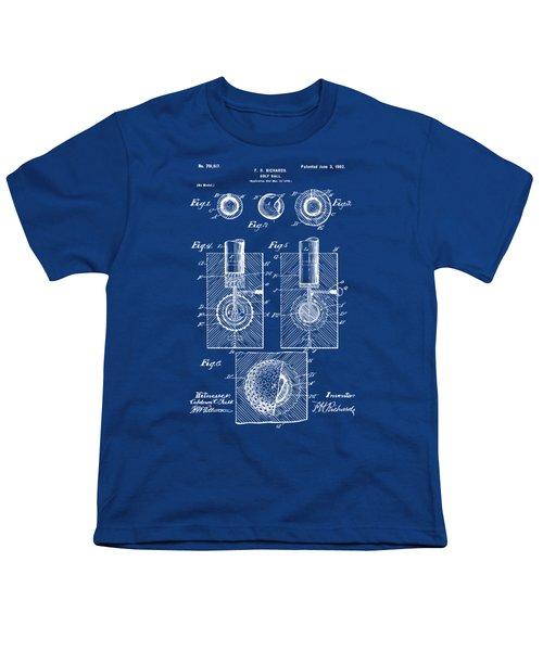 1902 Golf Ball Patent Artwork - Blueprint Youth T-Shirt