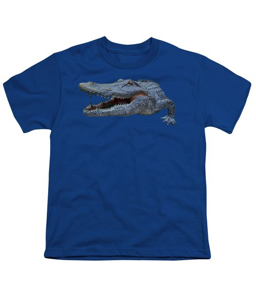 1998 Bull Gator Up Close Transparent For Customization Youth T-Shirt by D Hackett